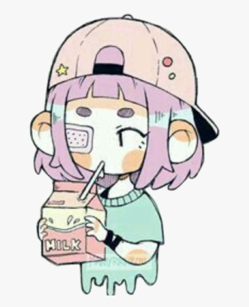#girl #tumblr #art #interesting #milk #cool #anime - Pastel Tumblr Anime Art, HD Png Download, Free Download