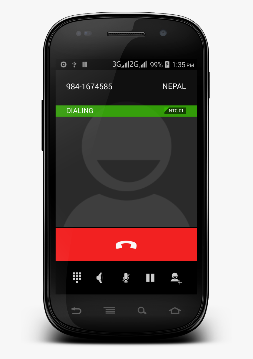 Phone Calling In Android By Entering Any Number - Android Phone Call Png, Transparent Png, Free Download