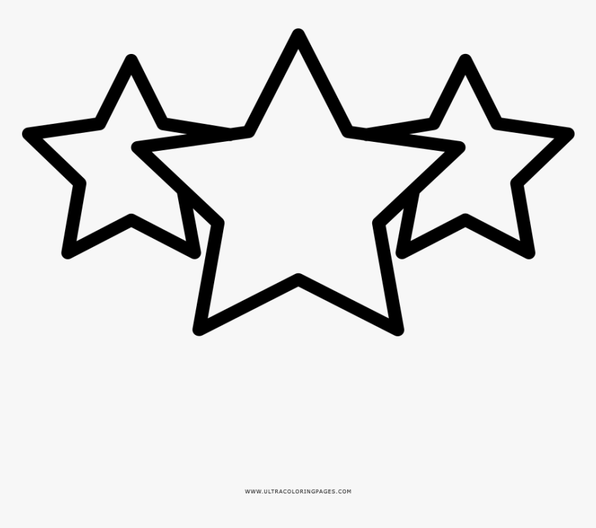 Star Rating Coloring Page - Shooting Star Outline Clipart, HD Png Download, Free Download
