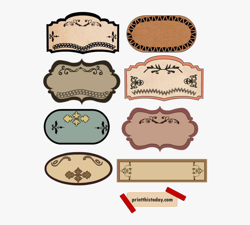 Transparent Fancy Label Png - Label Template Png Vintage, Png Download, Free Download