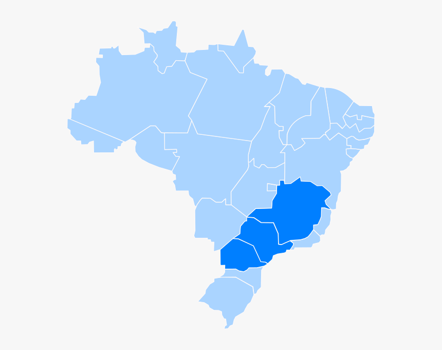 Brazil Blue Map, HD Png Download, Free Download