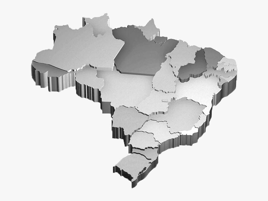 3d Brazil Map Png, Transparent Png, Free Download