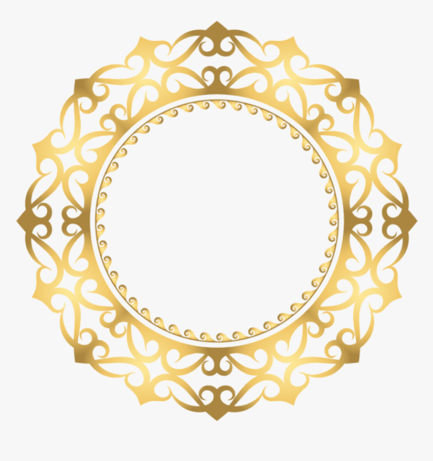 Free Png Download Gold Round Border Frame Clipart Png - Gold Circle Design Png, Transparent Png, Free Download