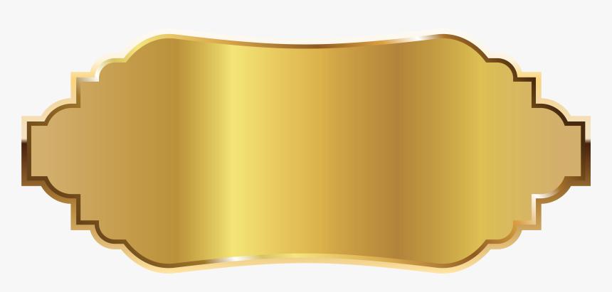 Labels Clip Frame Png - Gold Label Template Png, Transparent Png, Free Download