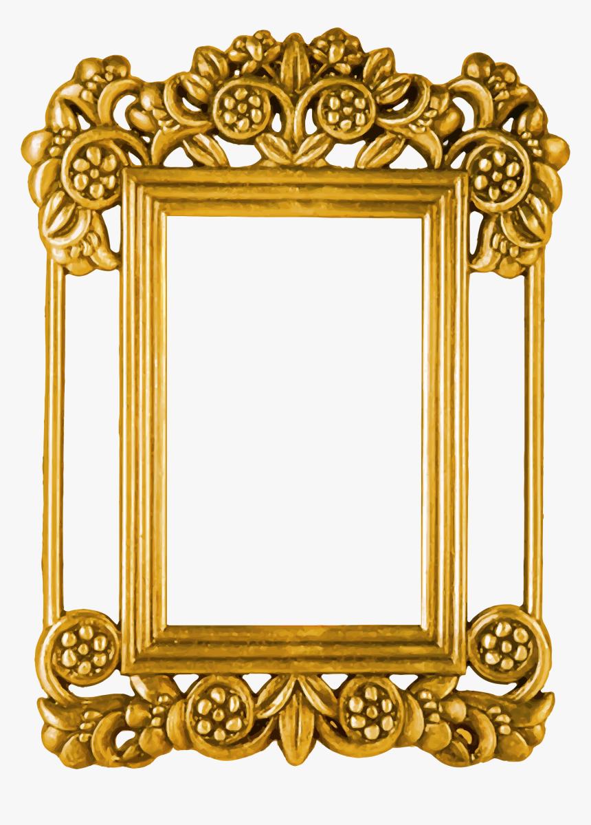 Transparent Ornate Picture Frame Png - Golden Photo Frame Png, Png Download, Free Download