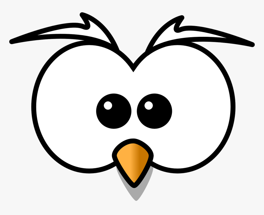 Owl Eyes Clipart Black And White Hd Png Download Kindpng