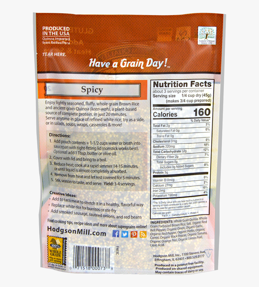 Quinoa & Brown Rice - Label, HD Png Download, Free Download