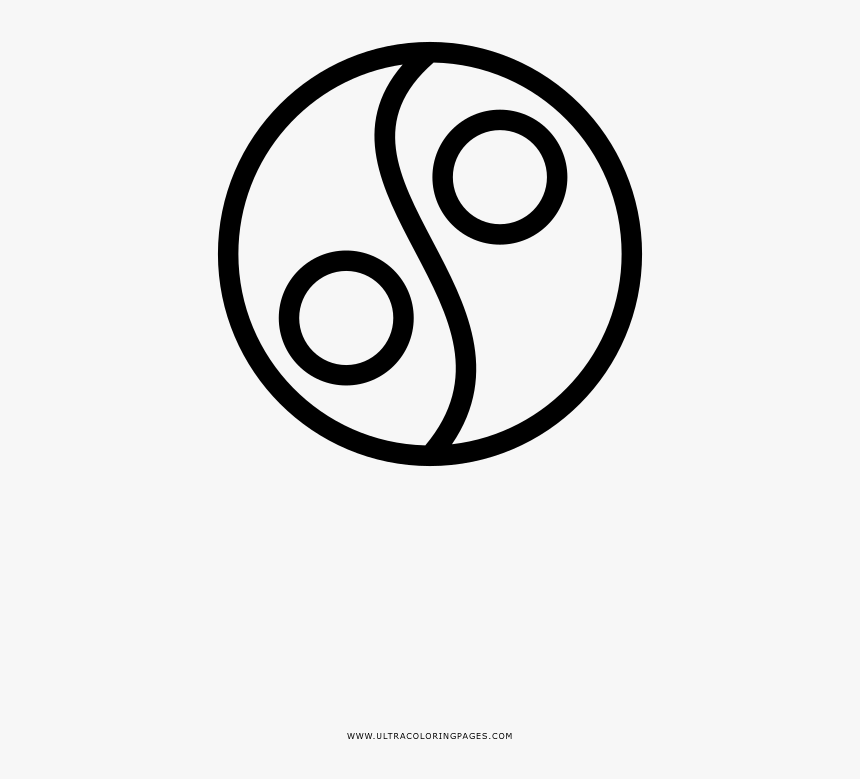 New Coloring Pages Yin Yang Coloring Pages Page Ultra - Circle, HD Png Download, Free Download