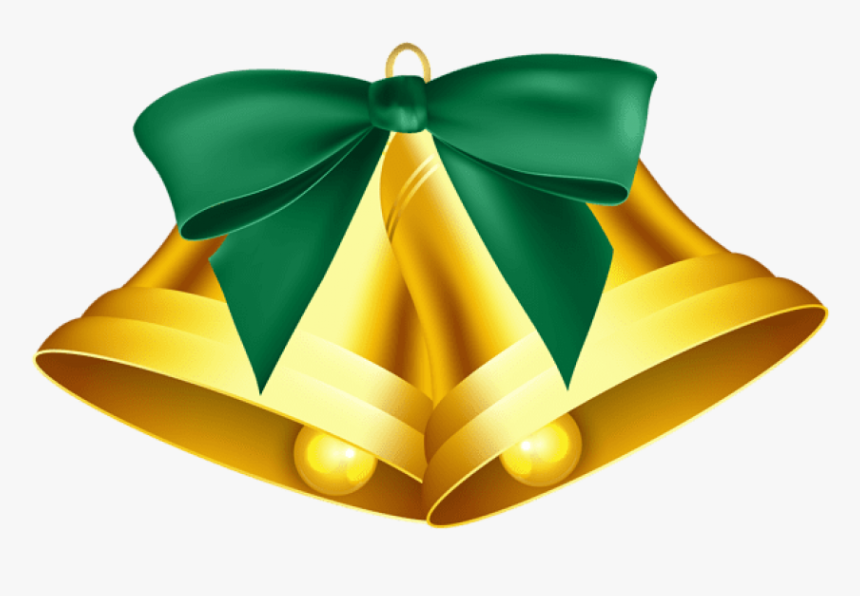 Green Christmas Bow Png - Green Christmas Bell Clipart, Transparent Png, Free Download