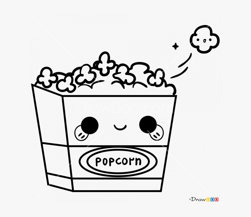 Popcorn Coloring Pages - GetColoringPages.com | 745x860