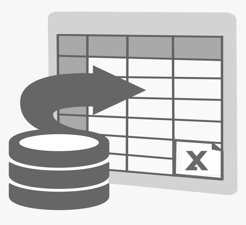 This Free Icons Png Design Of Import To Excel Icon - Data To Excel Icon, Transparent Png, Free Download