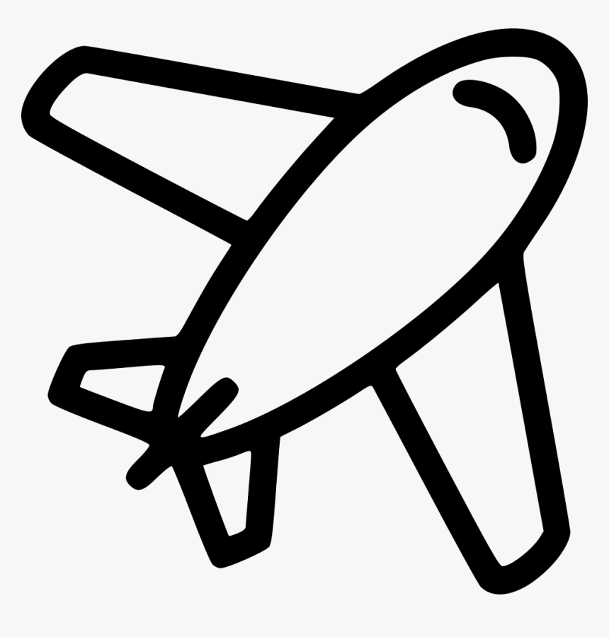 Airplane Plane Aircraft Travelling Flying - Symbol Black And White Airplane Icon, HD Png Download, Free Download