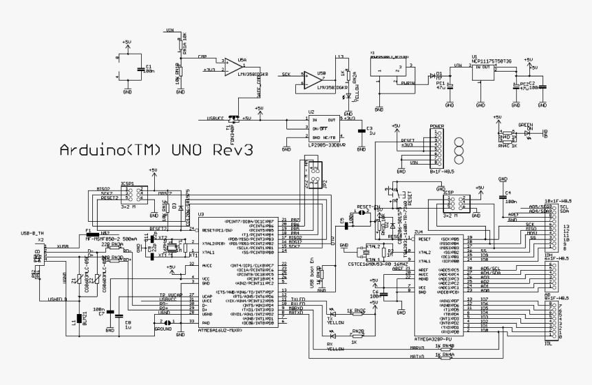 Hd Schematic Wiring Diagram Arduino Text Drawing Png Arduino Uno Ch340 Schematic Transparent Png Kindpng