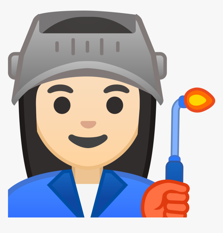 Woman Factory Worker Light Skin Tone Icon - Factory Worker Man Emoji, HD Png Download, Free Download