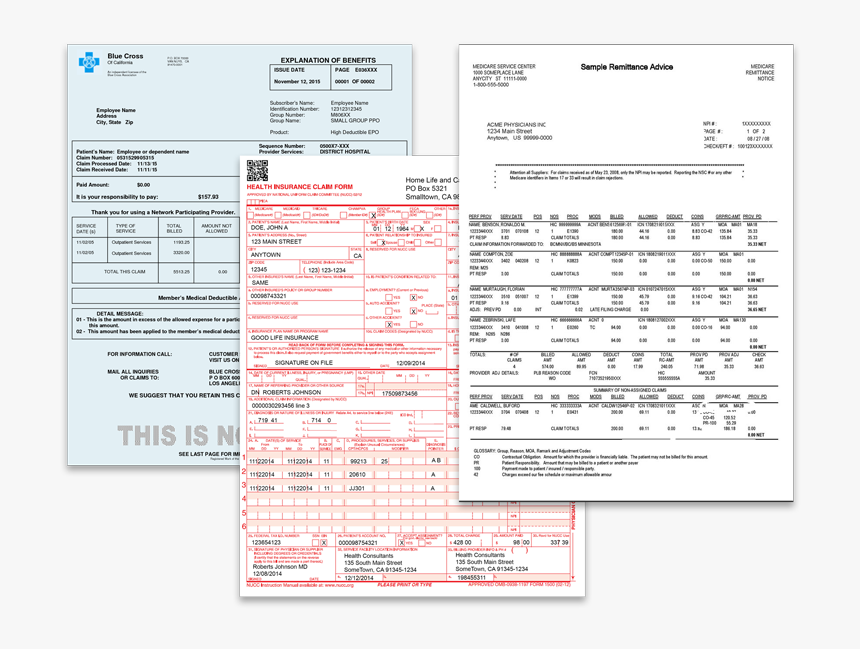 Healthcare Document Collage, HD Png Download, Free Download