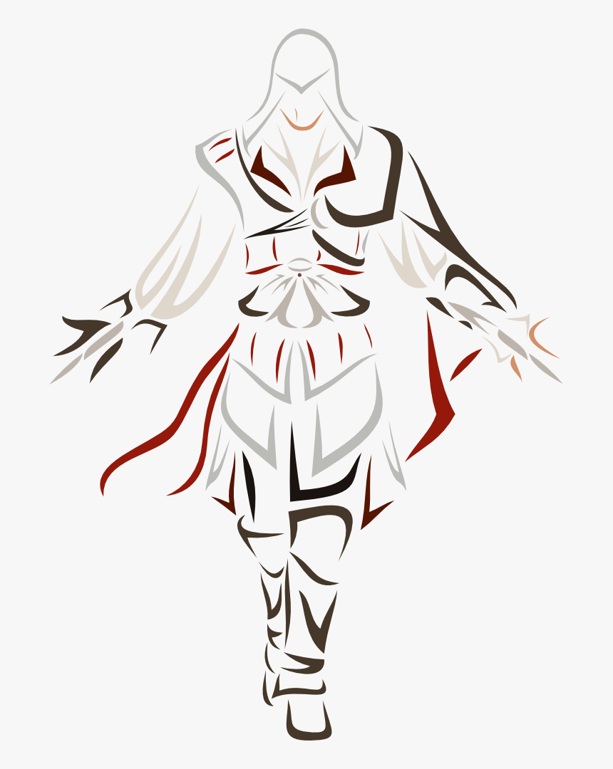 Ezio Auditore Da Firenze By Simple Assassins Creed Drawing Hd Png Download Kindpng
