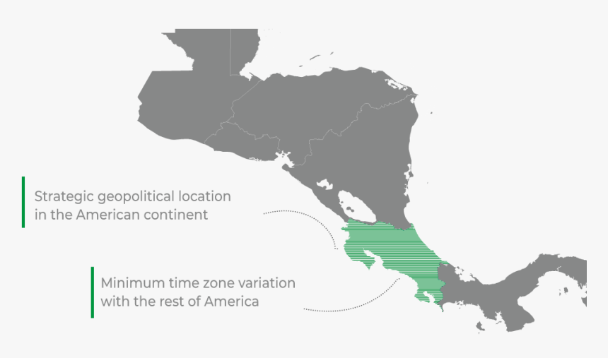 Why Costa Rica - Central America Map Flag, HD Png Download, Free Download