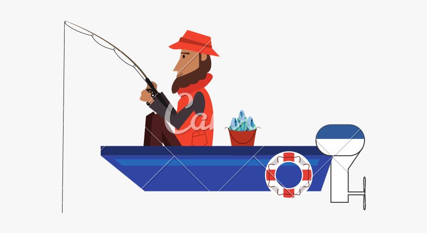 Fishing Clip Man - Fishing, HD Png Download, Free Download