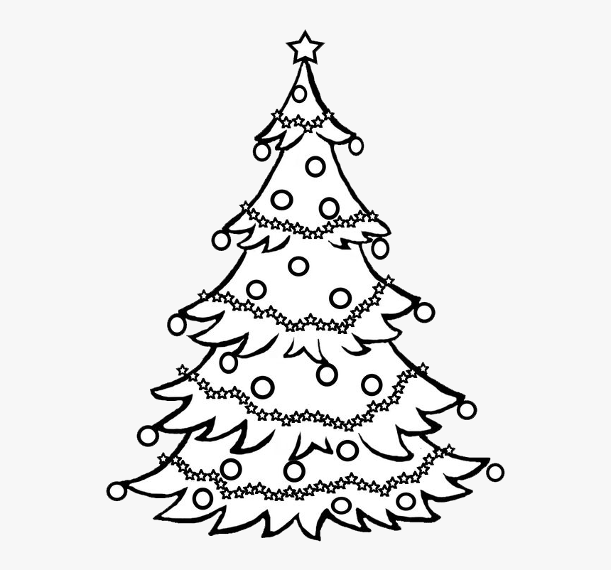 Pine Tree Clipart Black And White Christmas Tree Sketch Of Christmas Tree Hd Png Download Kindpng