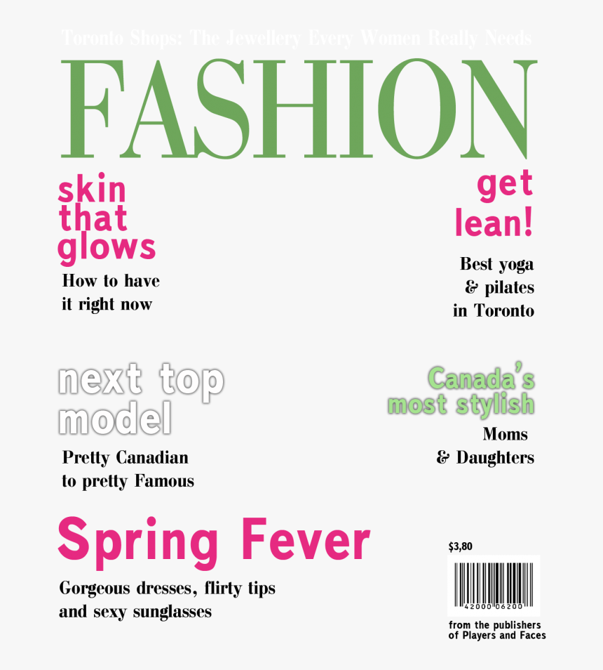 Blank Magazine Cover Template Clipart Magazine Vogue - Magazine Covers Templates Free, HD Png Download, Free Download