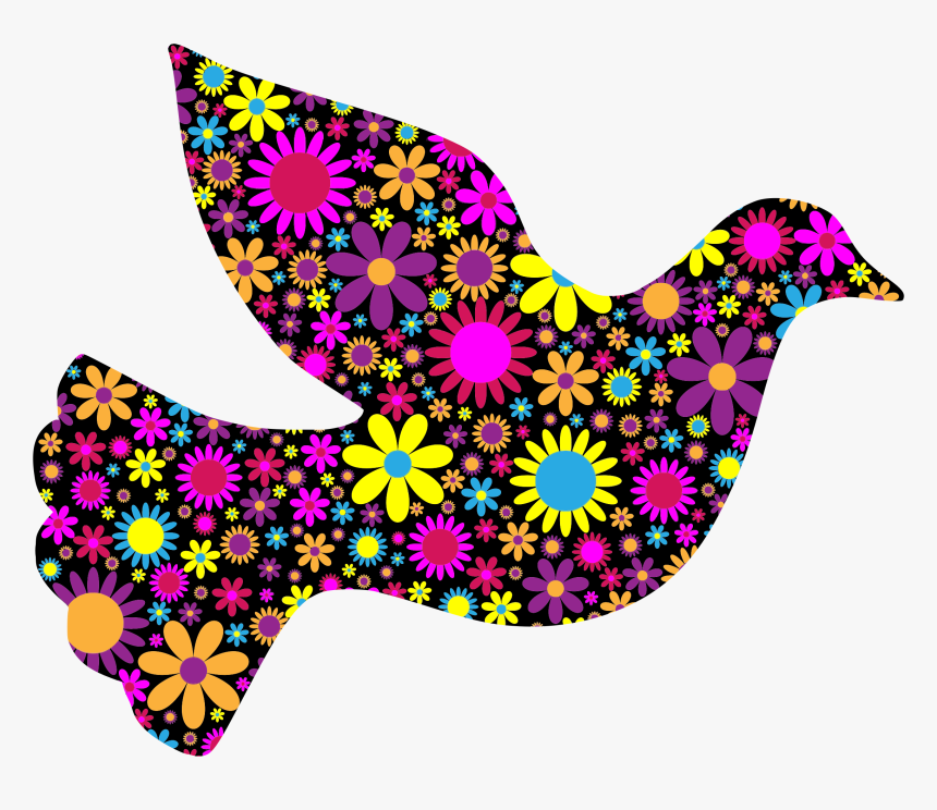 Floral Peace Dove 2 By @gdj, Floral Peace Dove 2, On - Peace Dove Clipart, HD Png Download, Free Download