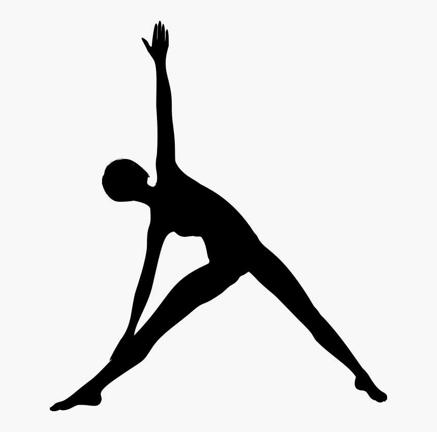 Female Yoga Pose Silhouette Yoga Silhouette Png Transparent Png Kindpng