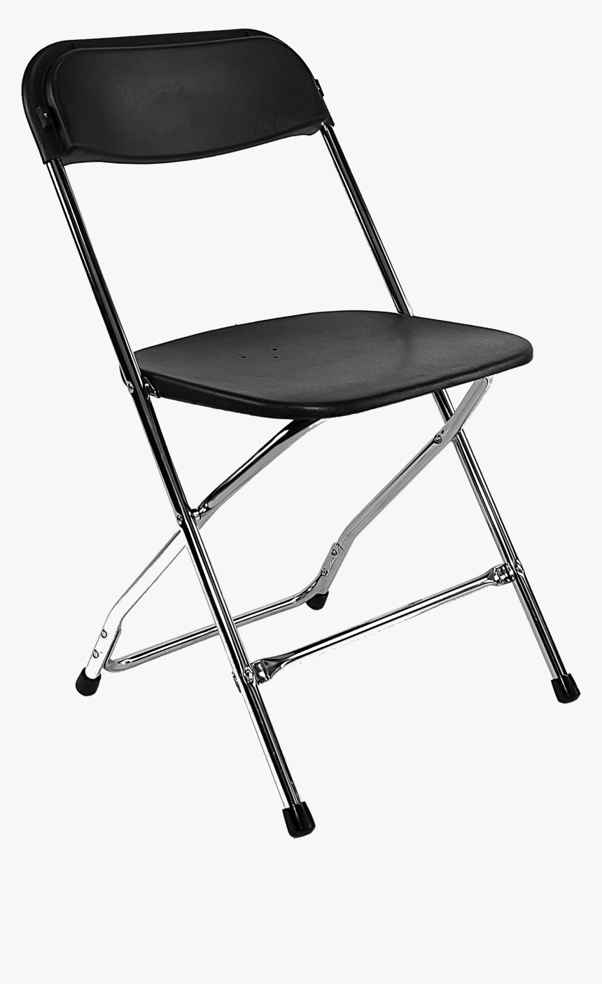 Grey Plastic Folding Chair, HD Png Download, Free Download