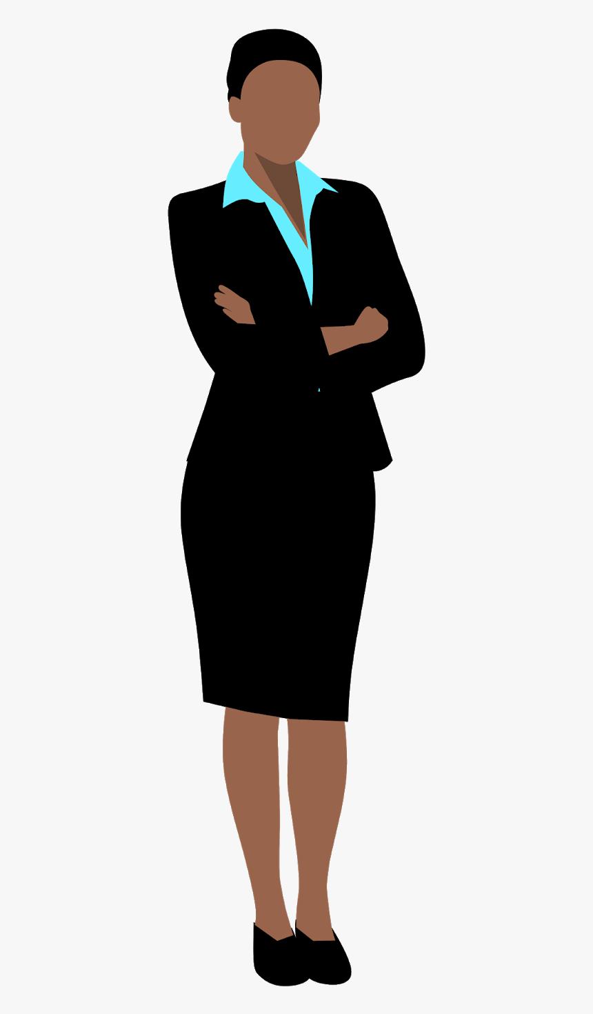 Gambar Kartun Wanita Png Image Gambar Kartun Wanita Bisnis Berdiri Keren Hd Png Download