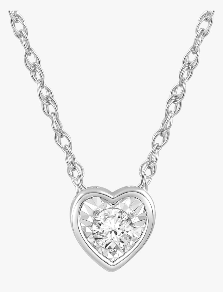 276763 - Bezel Set Heart Shaped Garnet Necklace, HD Png Download, Free Download