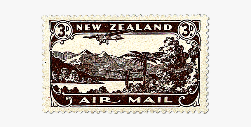 Airmail Stamp Png - Air Mail New Zealand, Transparent Png, Free Download