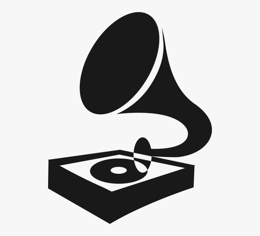 Vector Illustration Of Gramophone Phonograph Record - Record Player Vector Png, Transparent Png, Free Download