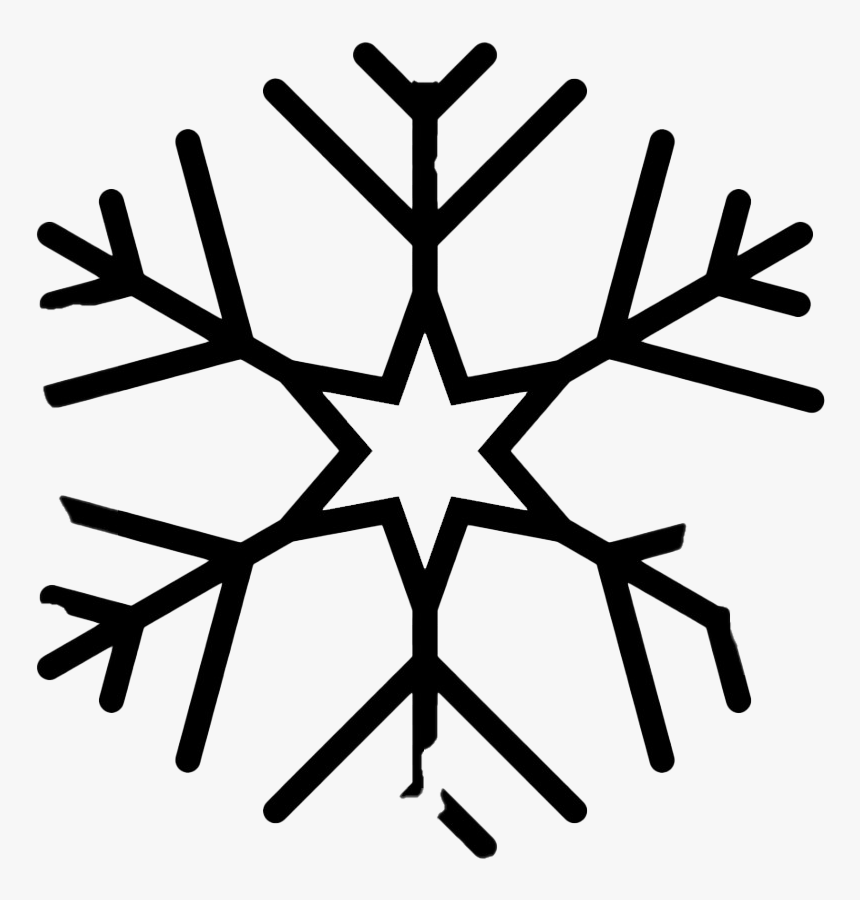 Christmas Black Snowflake Png Clipart - Snowflake Vector Png Free, Transparent Png, Free Download