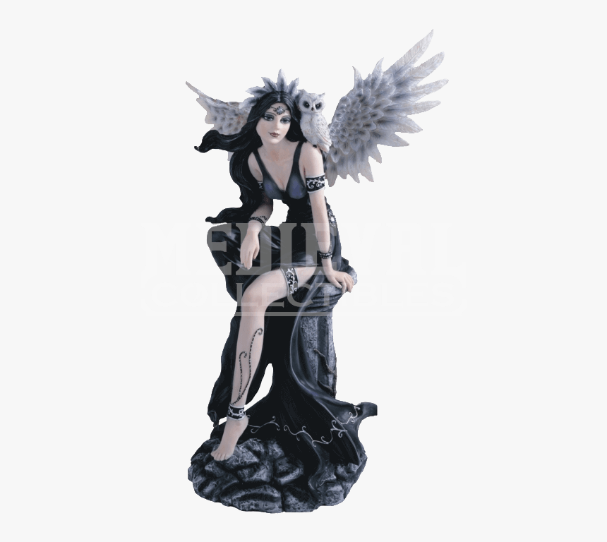 Gothic Angel With Snow Owl Statue - Gothic Fairy Figurines, HD Png Download, Free Download