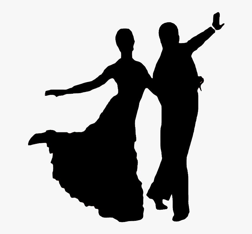 People Dancing Silhouette Png Silhouette Ballroom Dancing Transparent Png Kindpng