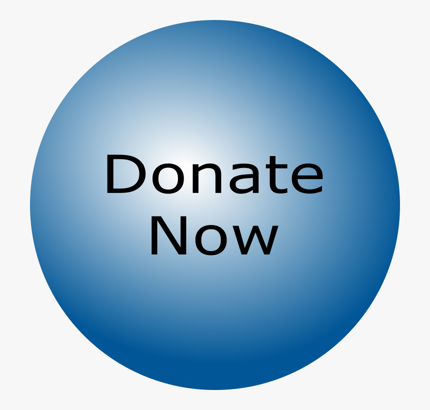 Donate Now Bubble Blue - Circle, HD Png Download, Free Download