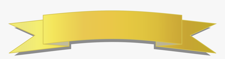 Gold Banner Cliparts - Ribbon Banner Clipart Gold, HD Png Download, Free Download