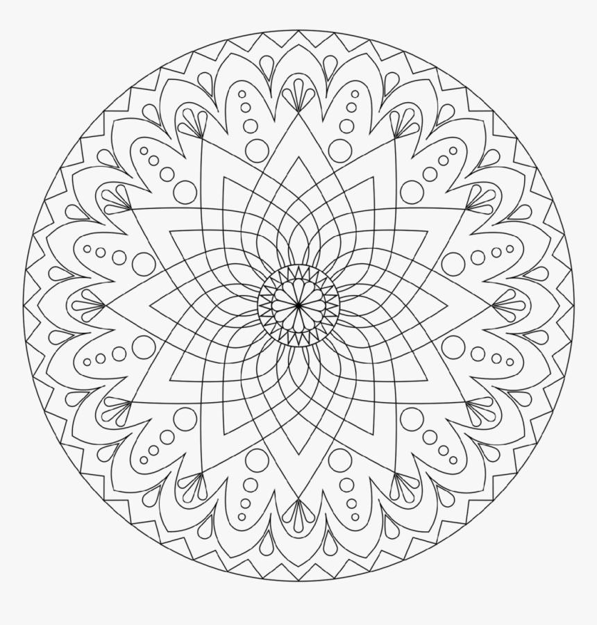 Coloring Pages Printable Mandala Coloring Pages Book - Mandala Coloring Pages Printable, HD Png Download, Free Download