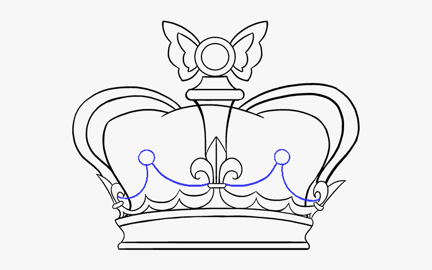How To Draw Crown - Draw A Crown Easy, HD Png Download, Free Download