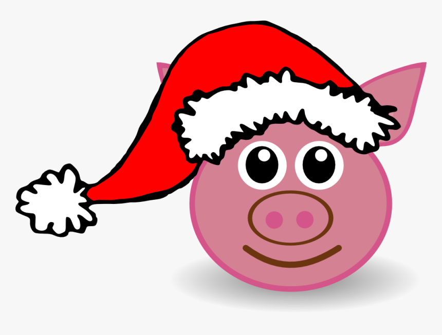Cartoon Santa Hat - Cat With Christmas Hat Clipart, HD Png Download, Free Download
