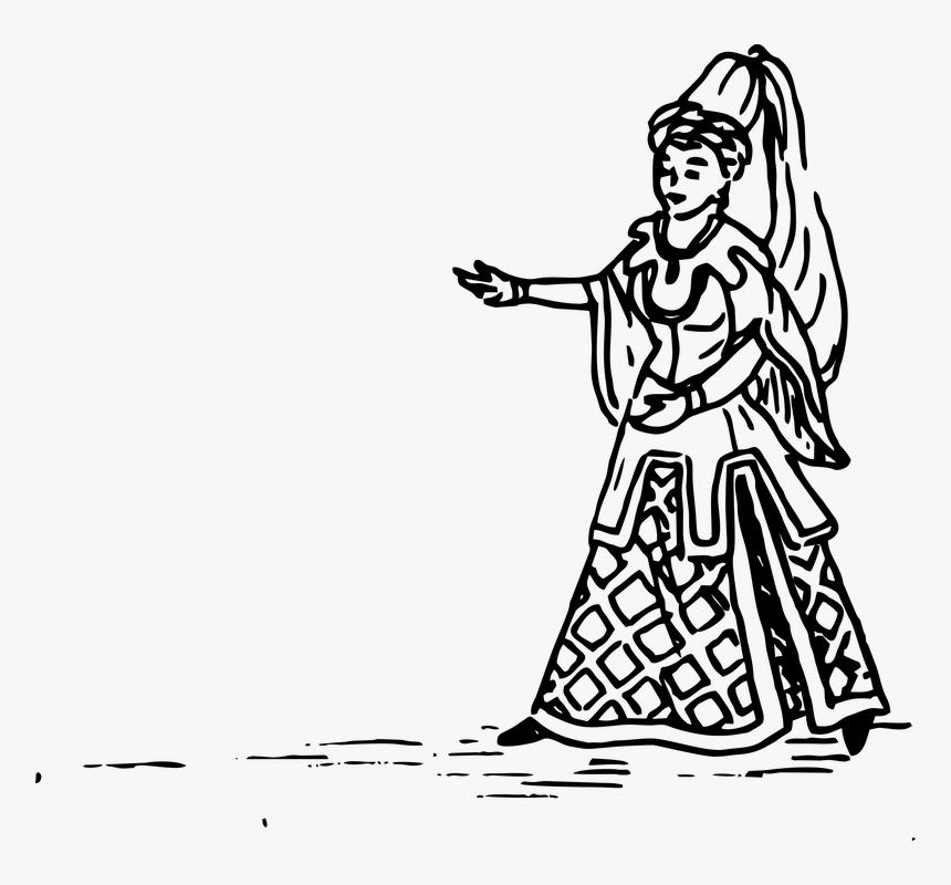 Princess, Handdrawn, Nobel, Drawing, Hand-drawn - Princess Drawing Png, Transparent Png, Free Download