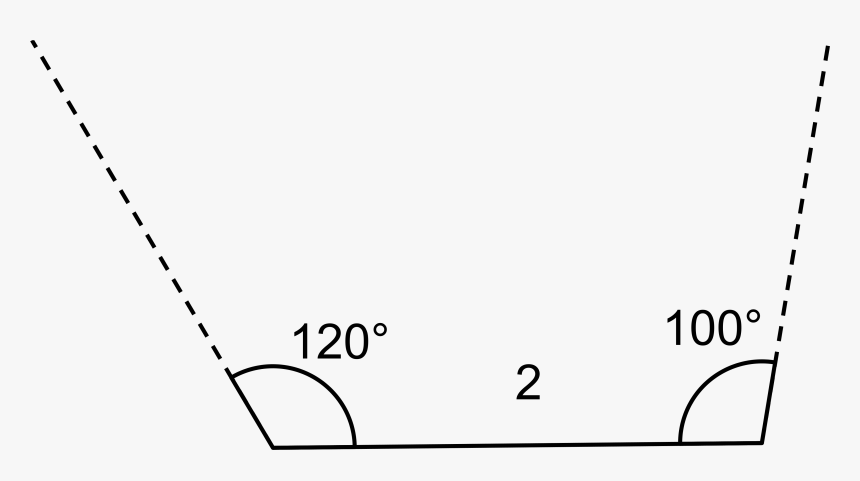 In The Figure A Horizontal Line Segment Is Drawn And - Plot, HD Png Download, Free Download