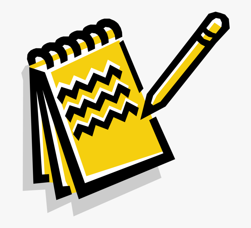 Vector Illustration Of Notebook Notepad Or Writing Notepad Clipart Hd Png Download Kindpng