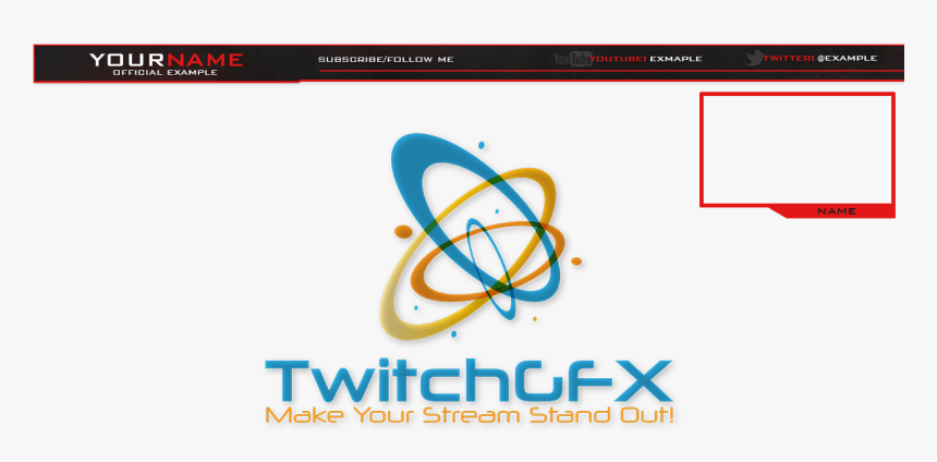 Simple Red Free Twitch Overlay - Twitch Stream Follow Overlay Free, HD Png Download, Free Download