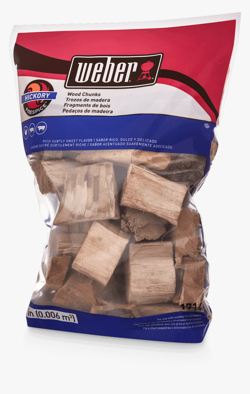Hickory Wood Chunks View - Weber Grill, HD Png Download, Free Download