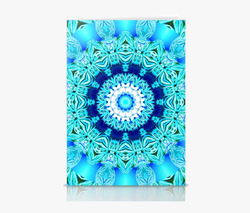 Blue Ice Glass Mandala, Abstract Aqua Lace - Lace, HD Png Download, Free Download