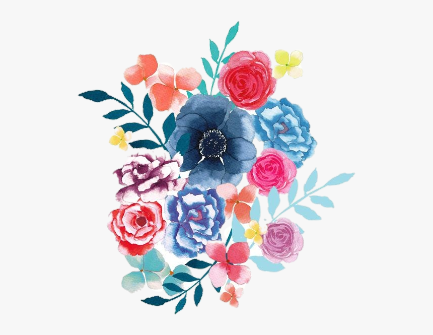 #pngstickers #png #watercolor #illustration #flowers - Flores Ilustración Png, Transparent Png, Free Download