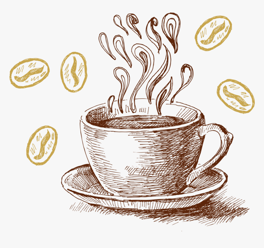 Tea Cup Clipart Chai Latte Painted Coffee Transparent Background Hd Png Download Kindpng