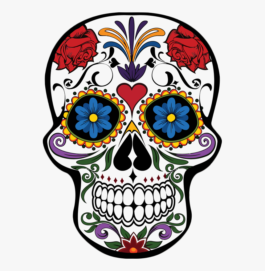 Day Of The Dead Skulls Png, Transparent Png, Free Download