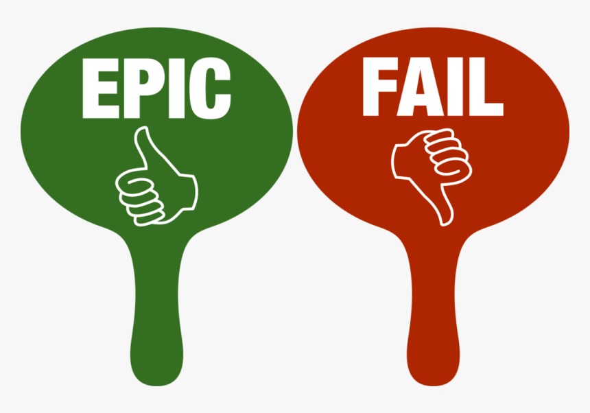 Transparent Epic Fail Png - Red And Green Voting Paddles, Png Download, Free Download