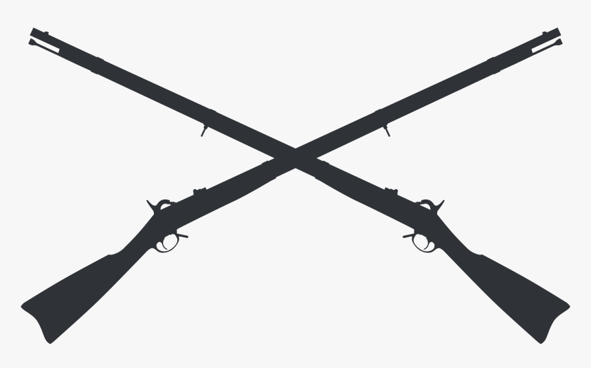 Gun Clipart Crossed - Crossed Muskets Clipart, HD Png Download, Free Download